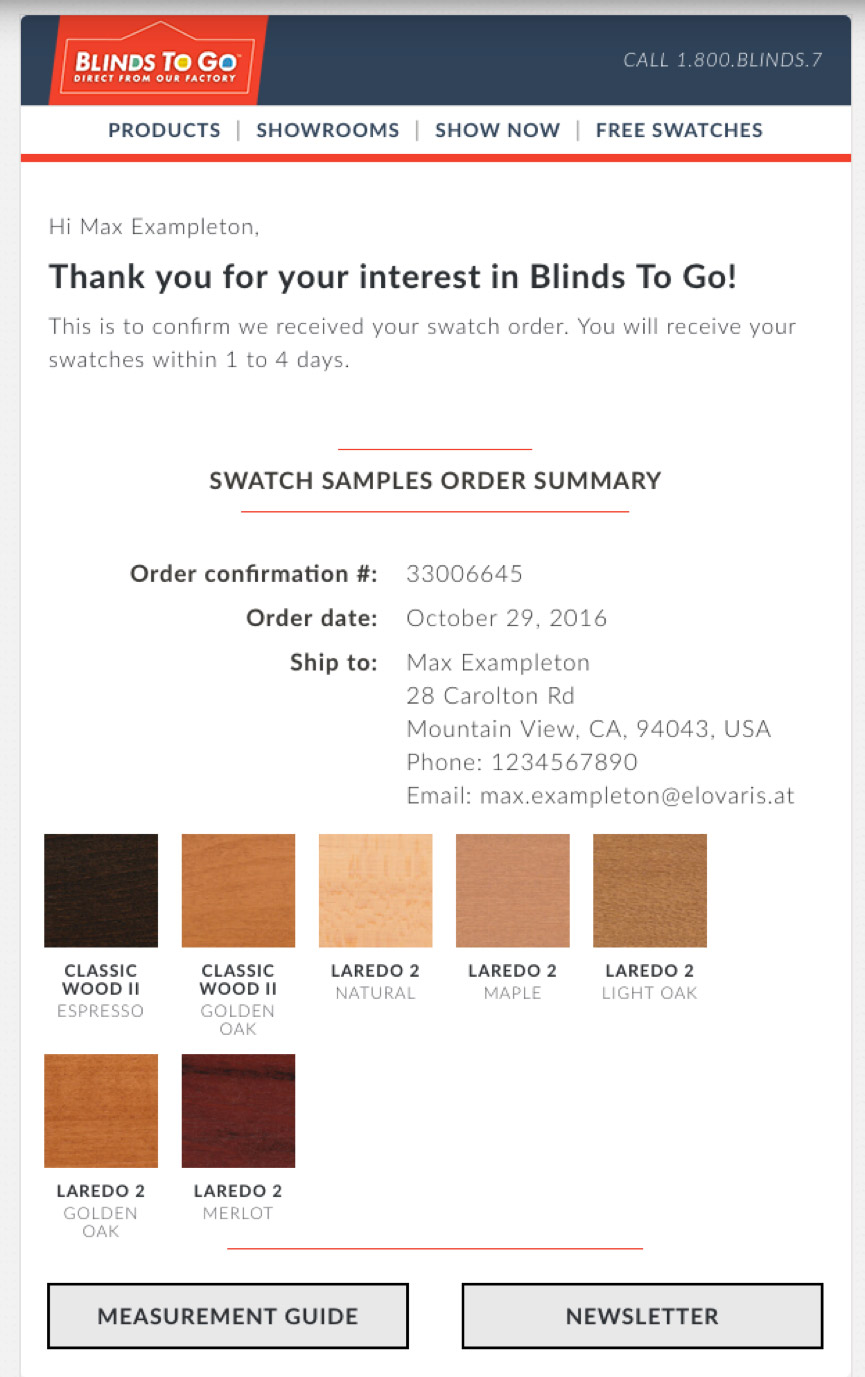 Swatch Emails