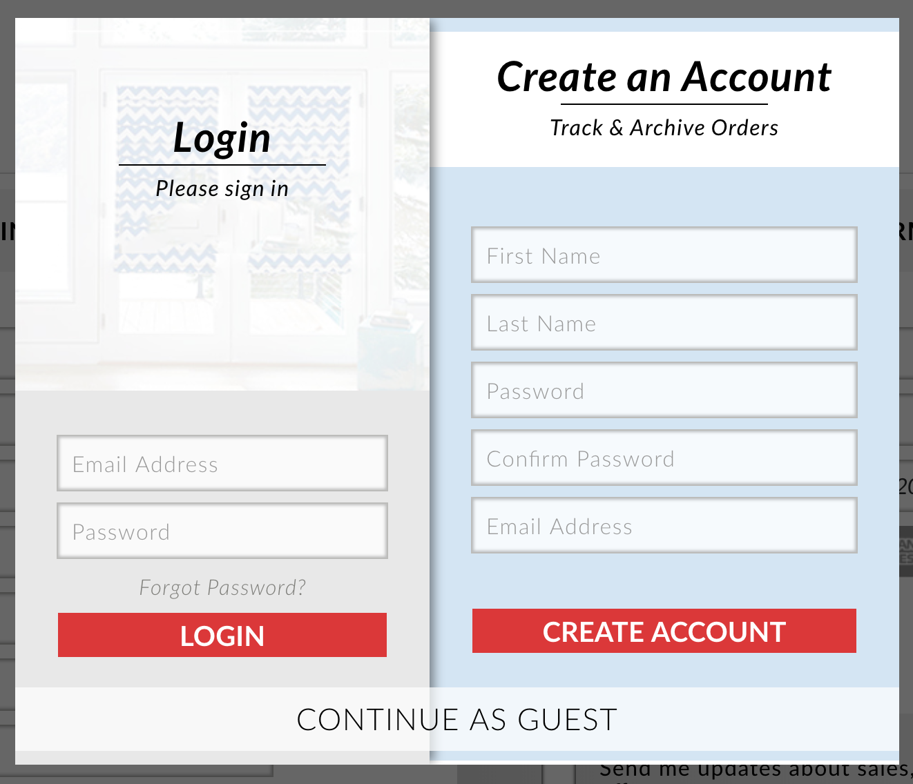 Recurring Customer Login