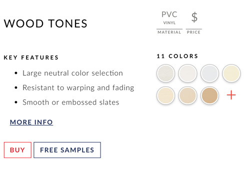 Swatches on product pages.